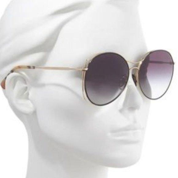 BURBERRY- Ladies 60mm Sunglasses